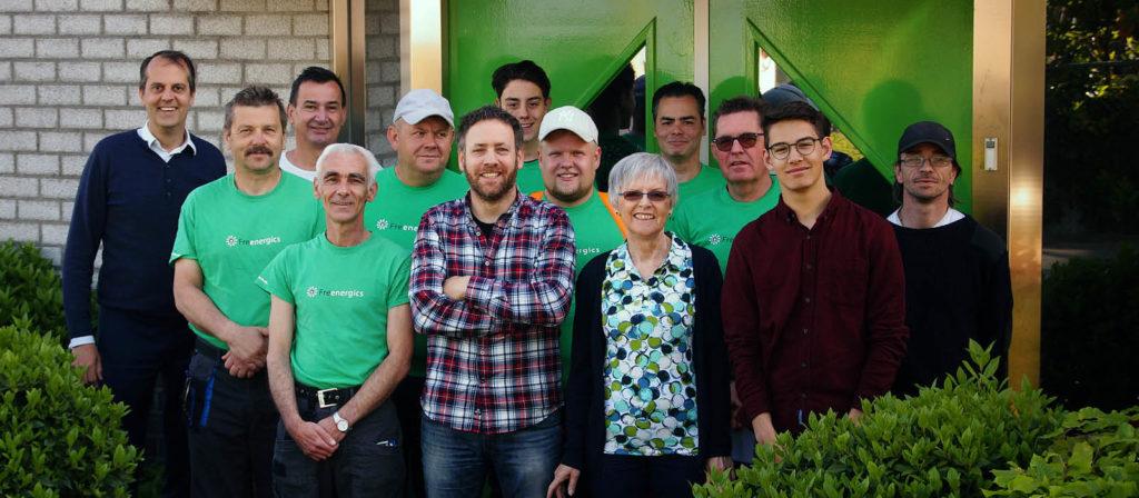 Het team van Freenergics zonnepanelen uit Boxtel