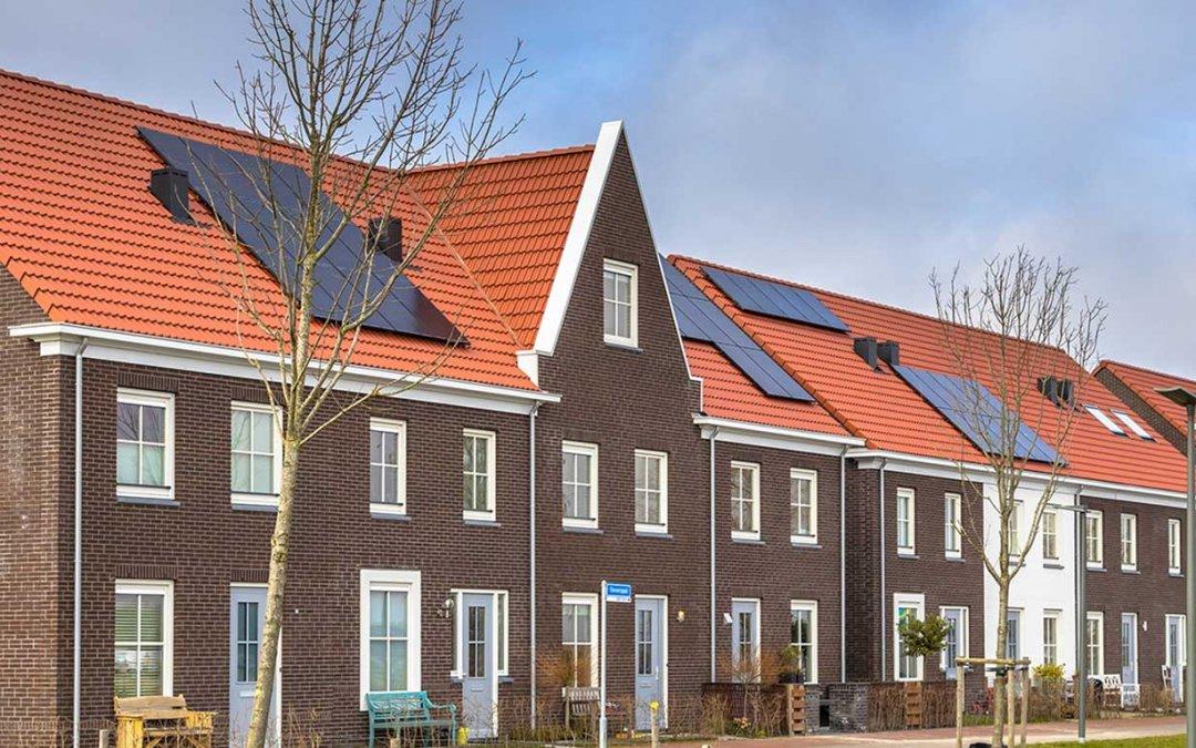 Rijtjeshuis met Freenergics zonnepanelen