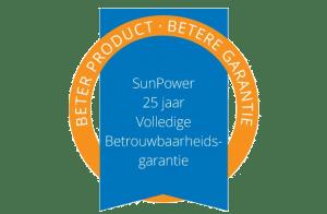 Garantie zegel SunPower Zonnepanelen
