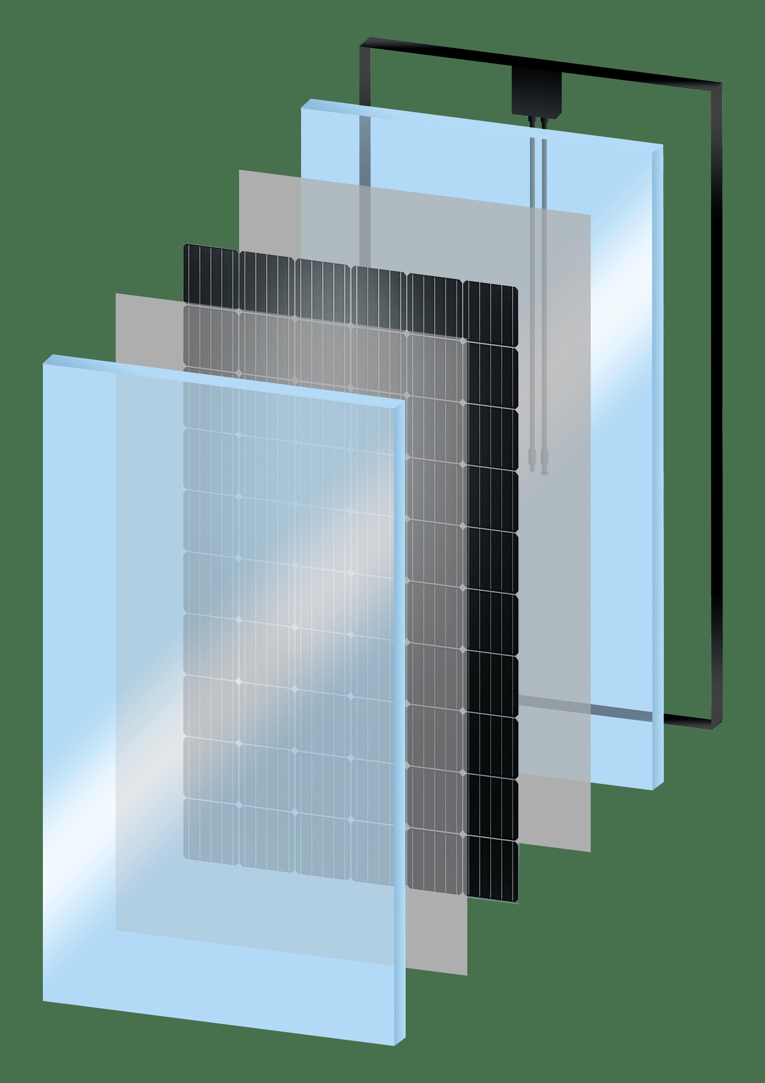 Doorsnede solarwatt zonnepaneel